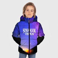 Куртка зимняя для мальчика Stranger Things: Space Rising цвета 3D-черный — фото 2