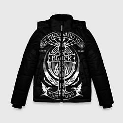 Детская зимняя куртка для мальчика с принтом Black Sabbath: Tour USA, цвет: 3D-черный, артикул: 10170571506063 — фото 1