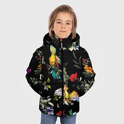 Куртка зимняя для мальчика Попугаи цвета 3D-черный — фото 2