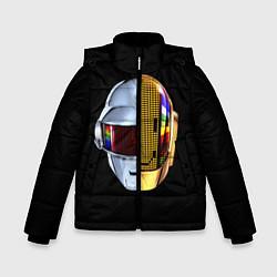 Детская зимняя куртка для мальчика с принтом Daft Punk: Smile Helmet, цвет: 3D-черный, артикул: 10171252106063 — фото 1