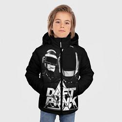 Детская зимняя куртка для мальчика с принтом Daft Punk: Space Rangers, цвет: 3D-черный, артикул: 10171345306063 — фото 2