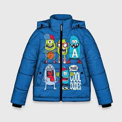 Куртка зимняя для мальчика Cool Dudes цвета 3D-черный — фото 1