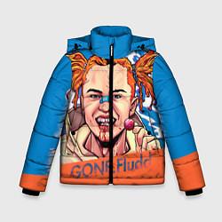 Куртка зимняя для мальчика Gone Fludd art цвета 3D-черный — фото 1