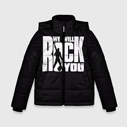 Куртка зимняя для мальчика Queen: We will rock you цвета 3D-черный — фото 1