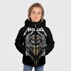 Куртка зимняя для мальчика Metallica: Hard Metal цвета 3D-черный — фото 2