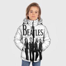 Куртка зимняя для мальчика The Beatles: White Side цвета 3D-черный — фото 2