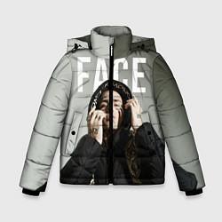 Куртка зимняя для мальчика FACE: Slime цвета 3D-черный — фото 1