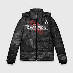 Куртка зимняя для мальчика You Are The Champion цвета 3D-черный — фото 1