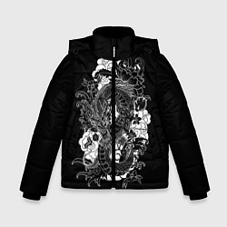 Куртка зимняя для мальчика Японский дракон цвета 3D-черный — фото 1