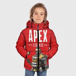 Куртка зимняя для мальчика Apex Legends: Red Caustic цвета 3D-черный — фото 2