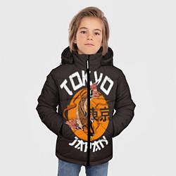 Детская зимняя куртка для мальчика с принтом Tokyo, Japan, цвет: 3D-черный, артикул: 10173433506063 — фото 2