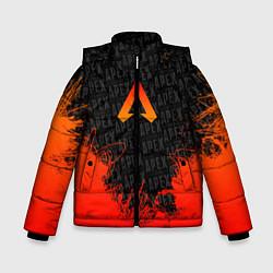 Куртка зимняя для мальчика Apex Legends: Orange Flame цвета 3D-черный — фото 1