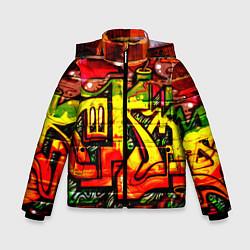 Куртка зимняя для мальчика Red Graffiti цвета 3D-черный — фото 1