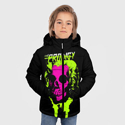 Куртка зимняя для мальчика The Prodigy: Acid Skull цвета 3D-черный — фото 2
