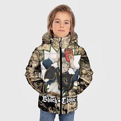 Куртка зимняя для мальчика Черный Клевер АСТА цвета 3D-черный — фото 2
