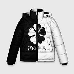 Куртка зимняя для мальчика Чёрный клевер цвета 3D-черный — фото 1