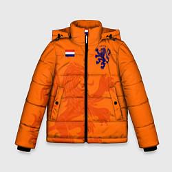 Куртка зимняя для мальчика Сборная Голландии цвета 3D-черный — фото 1