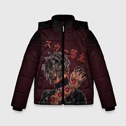 Куртка зимняя для мальчика SCARLXRD: Dark Man цвета 3D-черный — фото 1