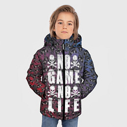 Куртка зимняя для мальчика No Game No Life цвета 3D-черный — фото 2