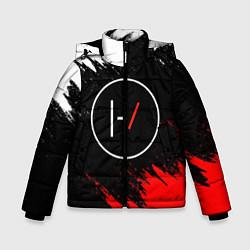 Куртка зимняя для мальчика 21 Pilots: Black & Red цвета 3D-черный — фото 1