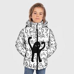 Куртка зимняя для мальчика ЪУЪ СЪУКА цвета 3D-черный — фото 2