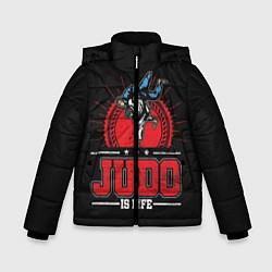 Куртка зимняя для мальчика Judo is life цвета 3D-черный — фото 1
