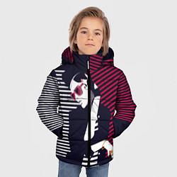Детская зимняя куртка для мальчика с принтом Стильная женщина, цвет: 3D-черный, артикул: 10180643306063 — фото 2