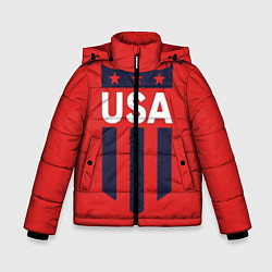 Куртка зимняя для мальчика USA цвета 3D-черный — фото 1