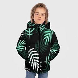 Куртка зимняя для мальчика Листья пальмы цвета 3D-черный — фото 2