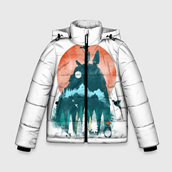 Куртка зимняя для мальчика Лесной Тоторо цвета 3D-черный — фото 1