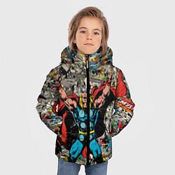 Куртка зимняя для мальчика Тор комикс цвета 3D-черный — фото 2