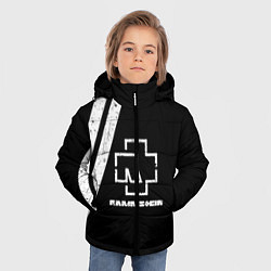 Куртка зимняя для мальчика Rammstein: Black цвета 3D-черный — фото 2
