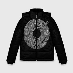 Детская зимняя куртка для мальчика с принтом Joy Division, цвет: 3D-черный, артикул: 10183424106063 — фото 1