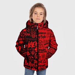 Куртка зимняя для мальчика ЛОГОТИПЫ РОК ГРУПП цвета 3D-черный — фото 2