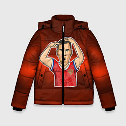 Куртка зимняя для мальчика Дзюба Russia edition цвета 3D-черный — фото 1