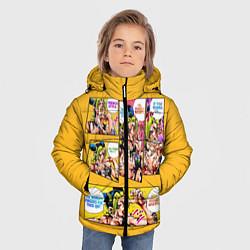 Куртка зимняя для мальчика Приключения ДжоДжо цвета 3D-черный — фото 2