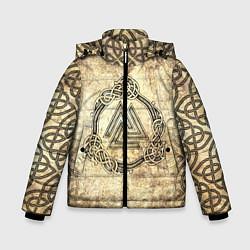 Куртка зимняя для мальчика Валькнут символ павших в битве цвета 3D-черный — фото 1