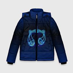 Куртка зимняя для мальчика Знаки Зодиака Весы цвета 3D-черный — фото 1