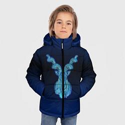 Куртка зимняя для мальчика Знаки Зодиака Козерог цвета 3D-черный — фото 2