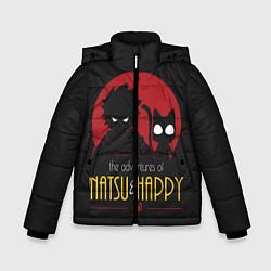 Куртка зимняя для мальчика Хвост Феи Natsu i Happy цвета 3D-черный — фото 1