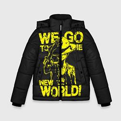 Куртка зимняя для мальчика One Piece We Go World цвета 3D-черный — фото 1