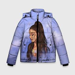 Куртка зимняя для мальчика Ариана Гранде цвета 3D-черный — фото 1