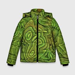 Куртка зимняя для мальчика Необычный камуфляж цвета 3D-черный — фото 1
