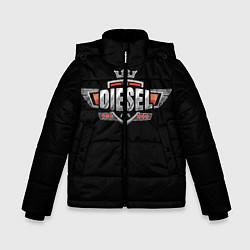 Куртка зимняя для мальчика Дизель цвета 3D-черный — фото 1