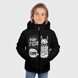 Куртка зимняя для мальчика Лама: Нет проблем цвета 3D-черный — фото 2