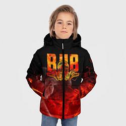 Куртка зимняя для мальчика ВДВ цвета 3D-черный — фото 2