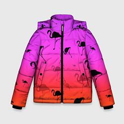 Куртка зимняя для мальчика Фламинго цвета 3D-черный — фото 1