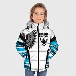 Куртка зимняя для мальчика ВМФ России камуфляж цвета 3D-черный — фото 2