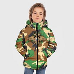 Куртка зимняя для мальчика Камуфляж с гербом МВД цвета 3D-черный — фото 2