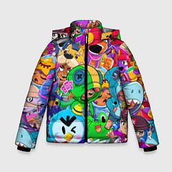 Куртка зимняя для мальчика BRAWL STARS цвета 3D-черный — фото 1
